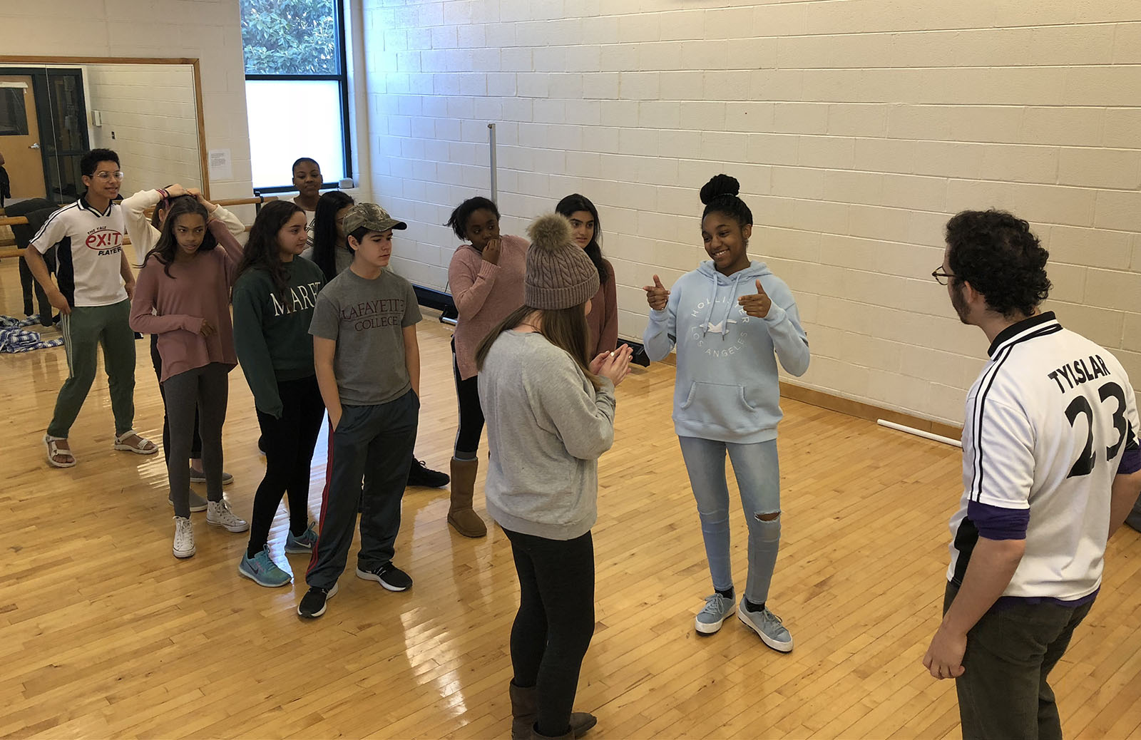 Yale Exit Players Visit Eighth Grade Drama Class